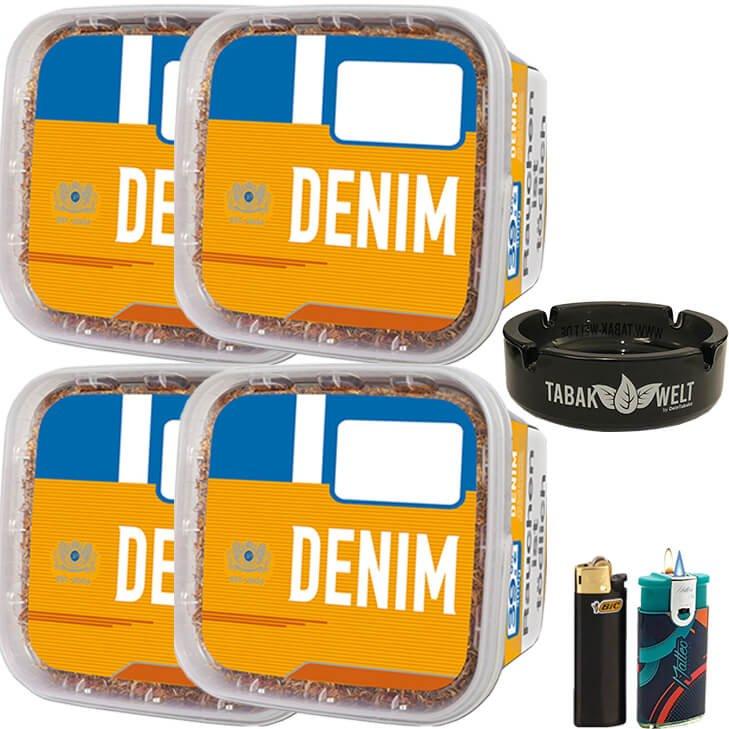 Denim Mega Box 4 x 290g mit Glasaschenbecher