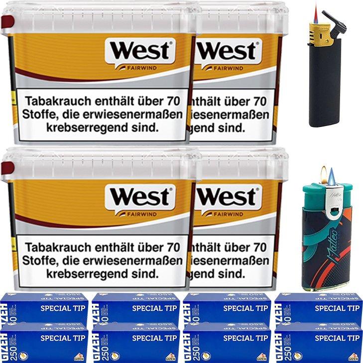 West Yellow Fairwind 4 x 185g mit 2000 King Size Hülsen