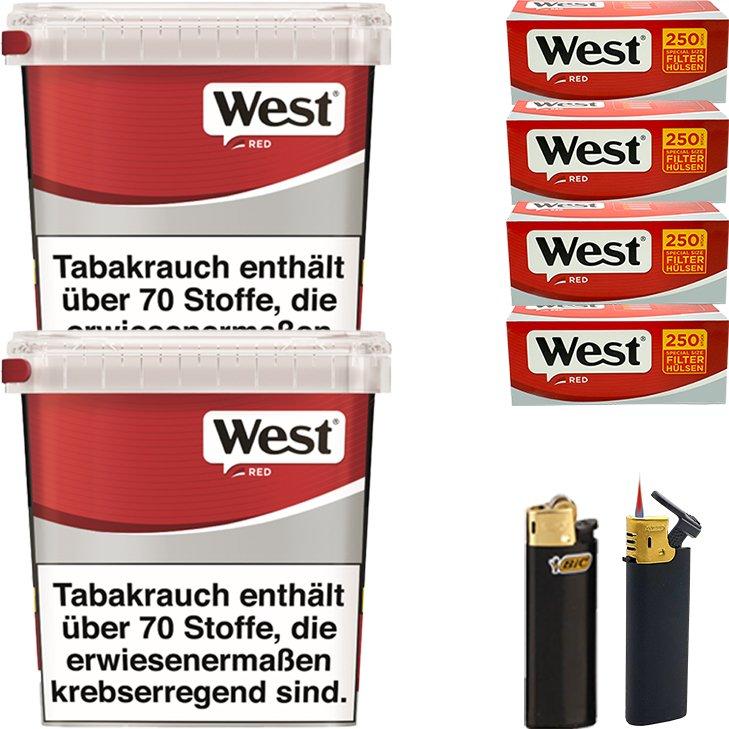 West Red 2 x 280g mit 1000 Special Size Hülsen