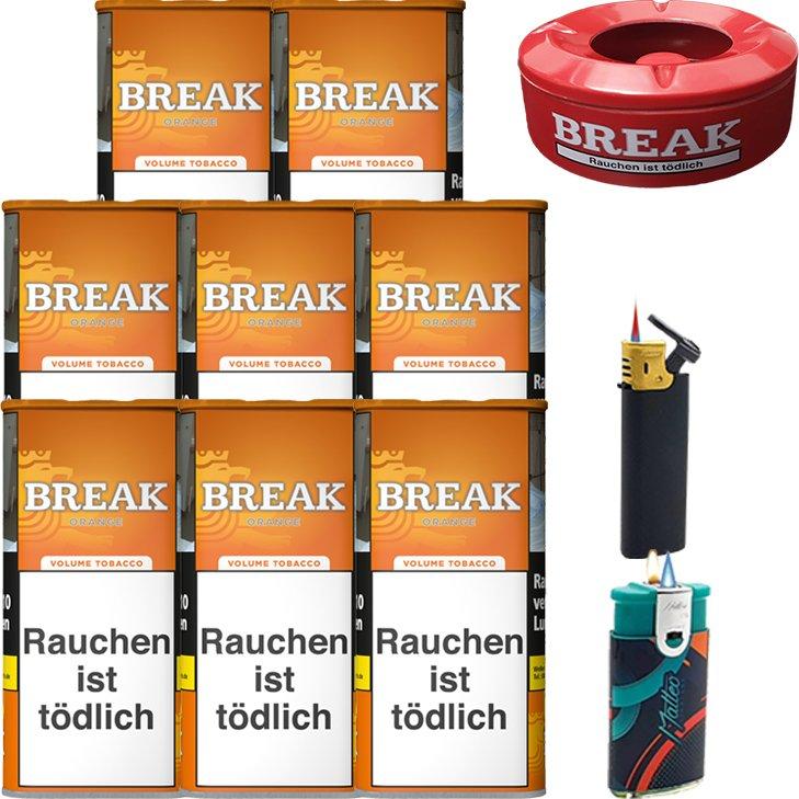 Break Orange 8 x 110g mit Aschenbecher