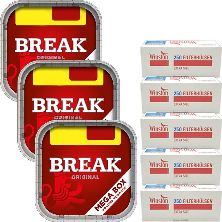 Break Original 3 x 170g mit 1250 Extra Size Hülsen