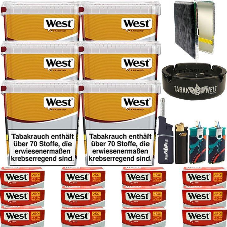 West Yellow Fairwind 6 x 280g mit 3000 Extra Size Hülsen