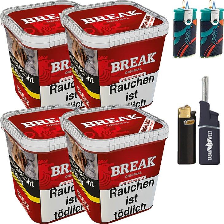 Break Original 4 x 230g mit Feuerzeugen