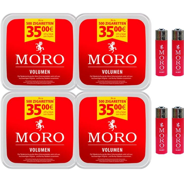 Moro Volumen 4 x 225g mit Clipper Feuerzeugen