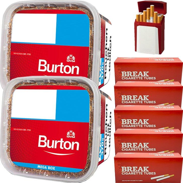 Burton 2 x 350g mit 1000 King Size Hülsen