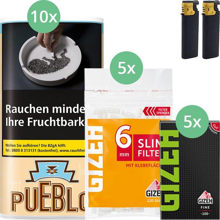 Pueblo Classic 10 x 30g mit Gizeh Blättchen und Filter