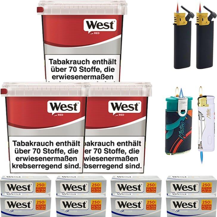 West Red 3 x 260g mit 2000 Silver Special Hülsen