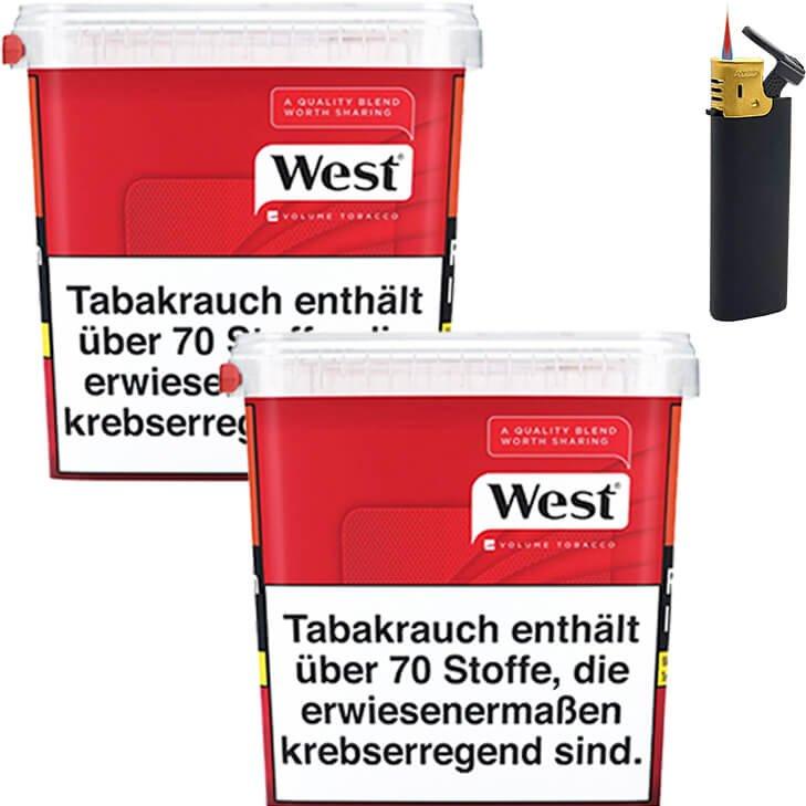 West Red 2 x 280g mit Sturmfeuerzeug