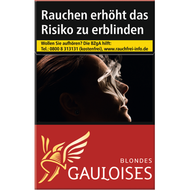 Gauloises Blondes Rot 7 €
