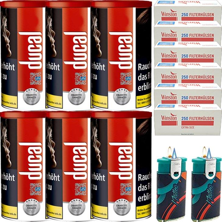 Ducal Red 6 x 200g mit 1500 Special Size Filterhülsen