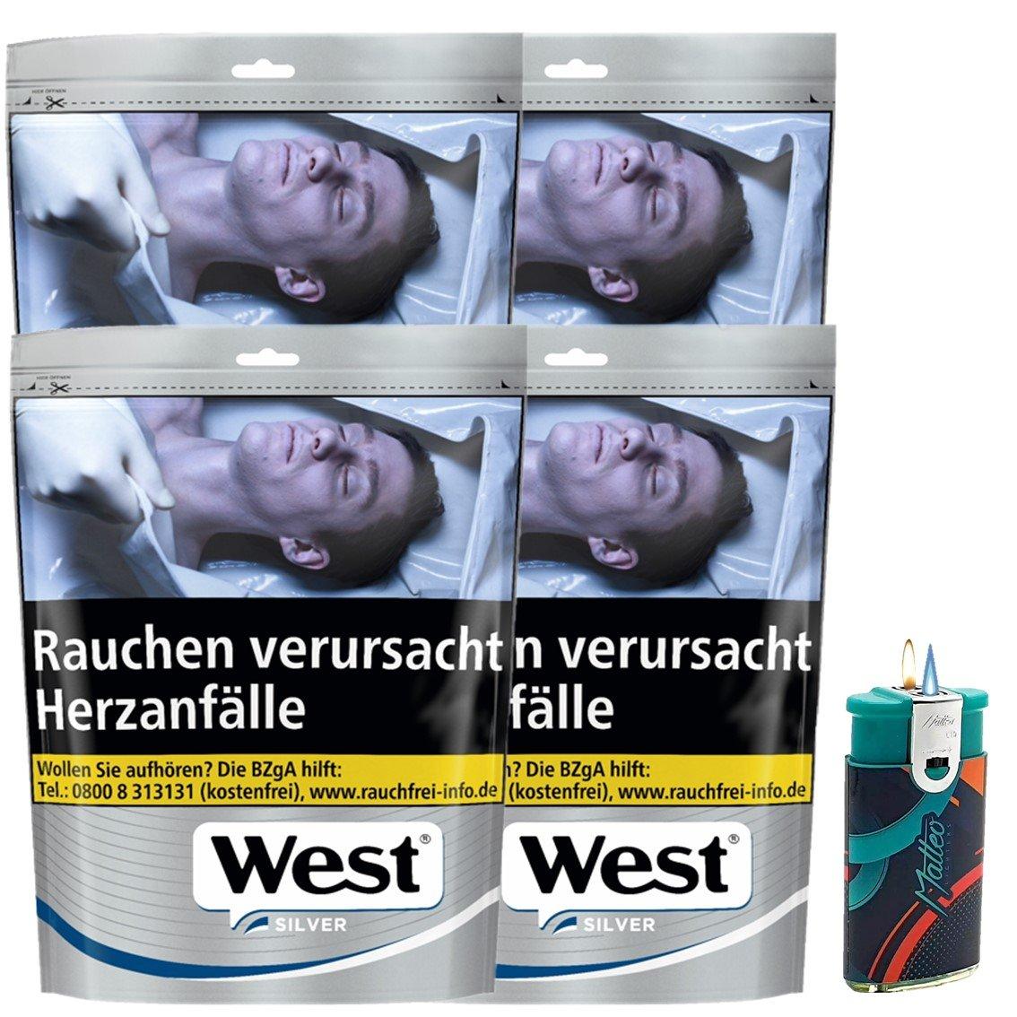 West Silver 4 x 96g mit Feuerzeug