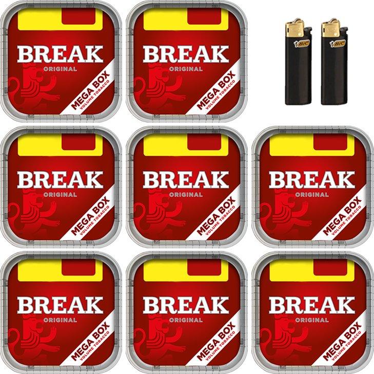 Break Original 8 x 170g mit Bic Feuerzeuge