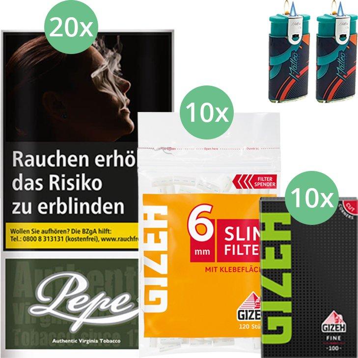 Pepe Dark Green 20 x 30g mit Gizeh Blättchen und Filter