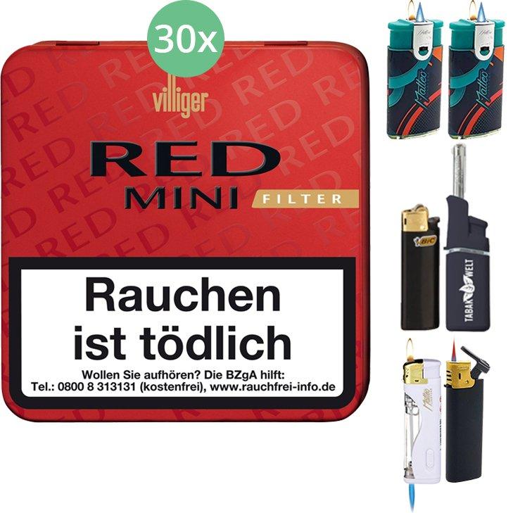 Villiger Red Mini Filter 30 X 20 Stück