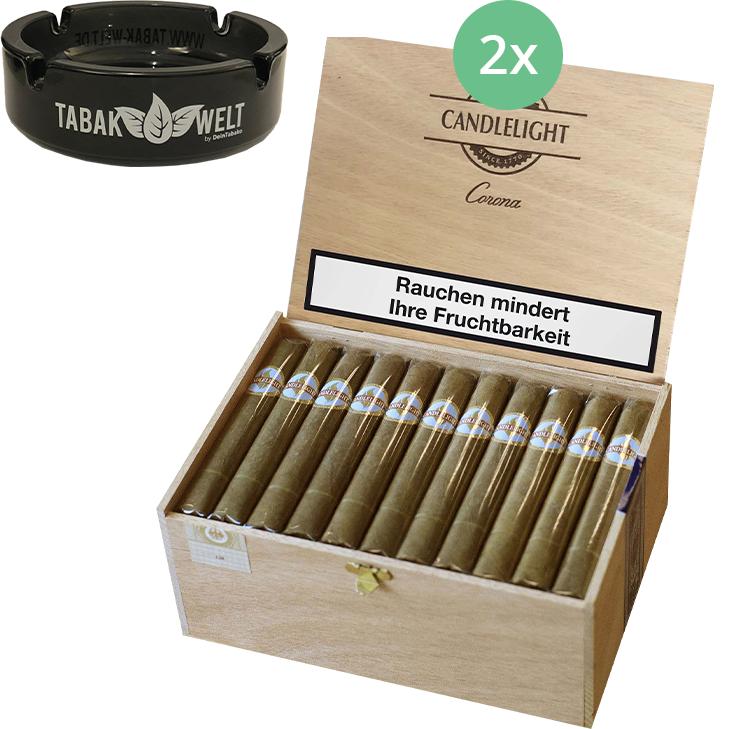 Candlelight Corona Sumatra 2 x 50 Zigarren mit Aschenbecher