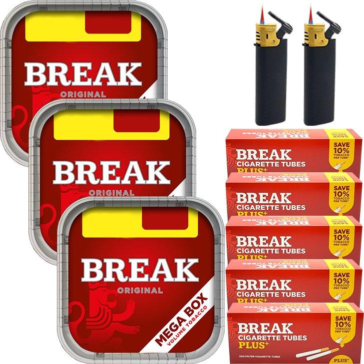 Break Original 3 x 170g mit 1000 Plus Hülsen