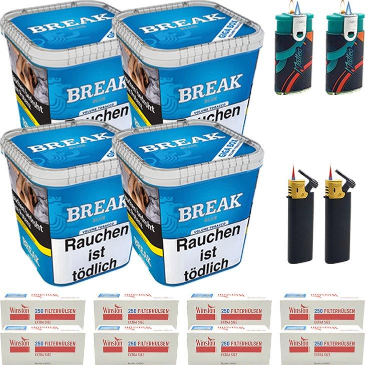 Break Blue 4 x 230g mit 2000 Extra Size Hülsen