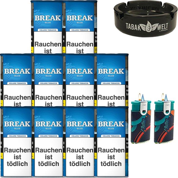 Break Blue / Blau 10 x 115g mit Glasaschenbecher