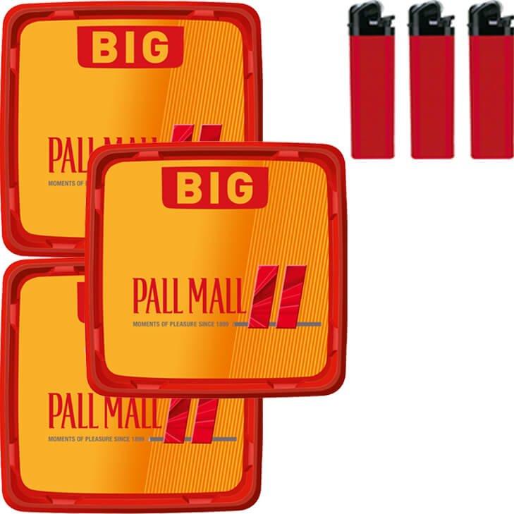 Pall Mall Allround Red 3 x 120g mit Feuerzeugen