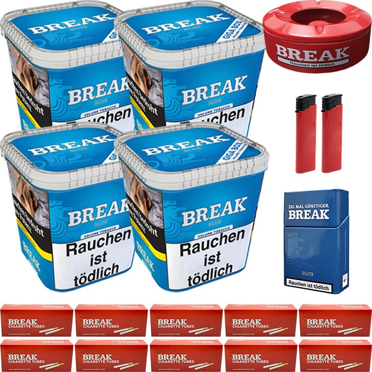 Break Blue 4 x 230g mit 2000 Hülsen