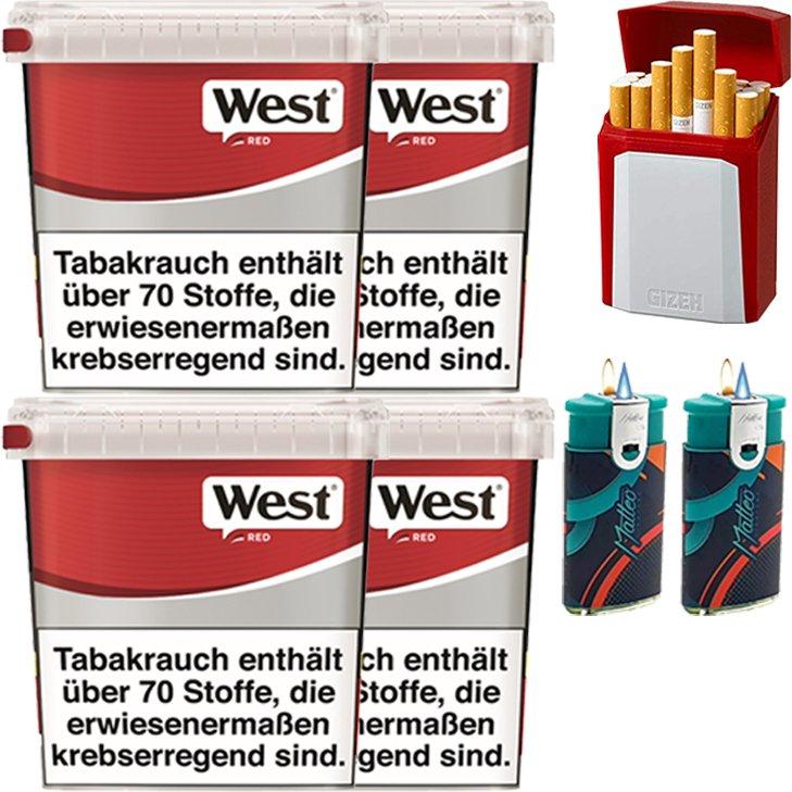 West Red 4 x 260g mit Etui