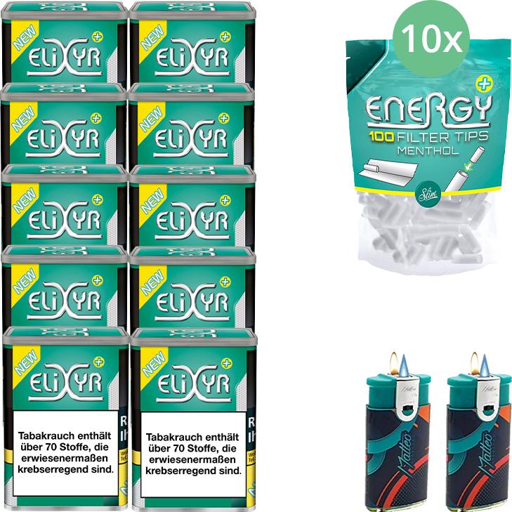 Elixyr Plus 10 x 115g mit Energy Plus Filter Menthol