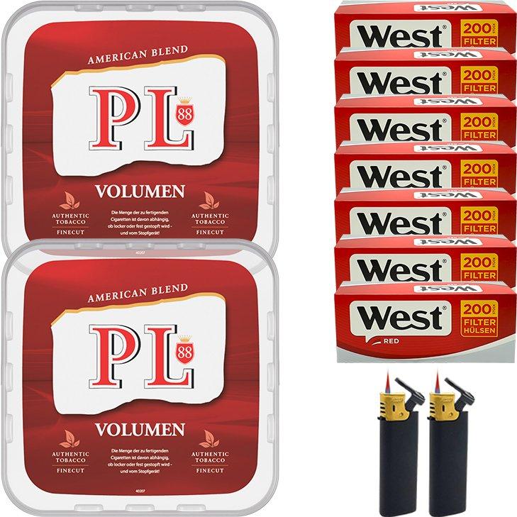 PL88 Red 2 x 365g mit 1400 King Size Hülsen