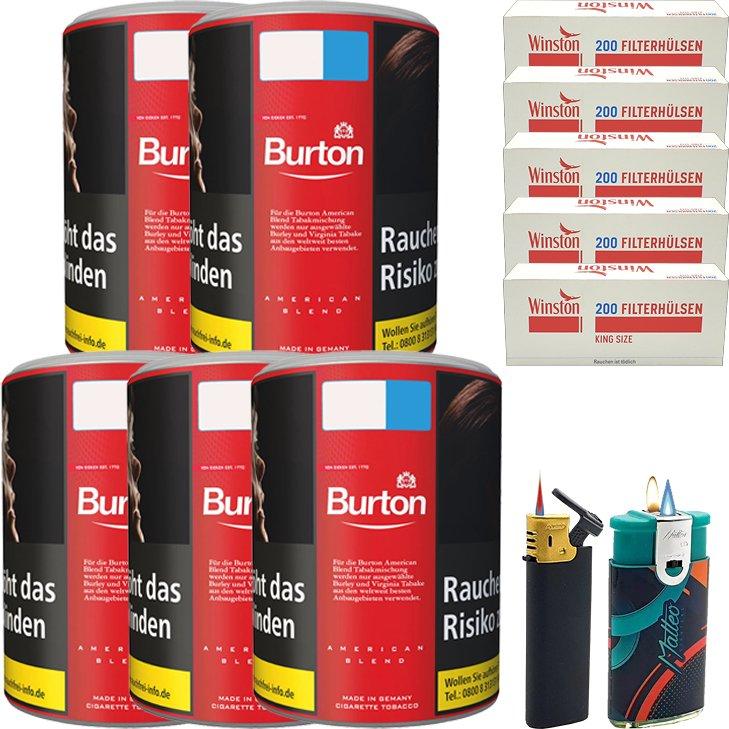 Burton Original 5 x 120g mit 1000 King Size Hülsen