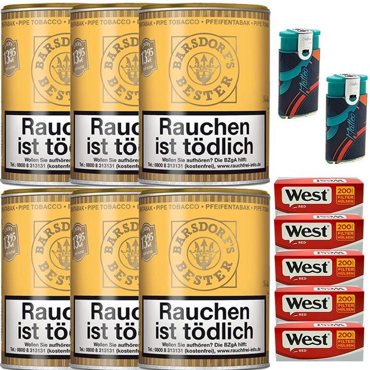 Barsdorf´s Bester Honey & Rum / Gold 6 x 160g mit 1000 King Size Hülsen
