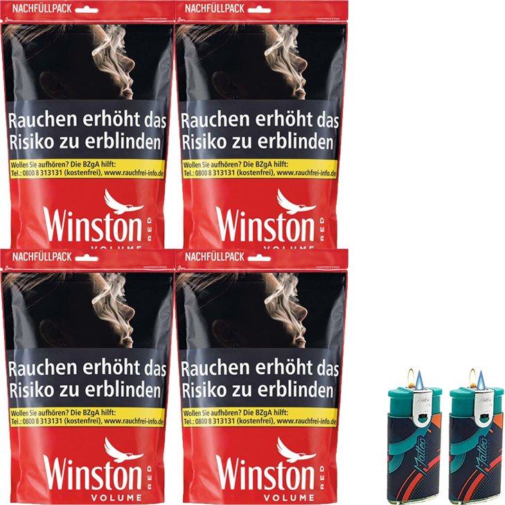Winston Red 4 x 125g mit Duo Feuerzeuge