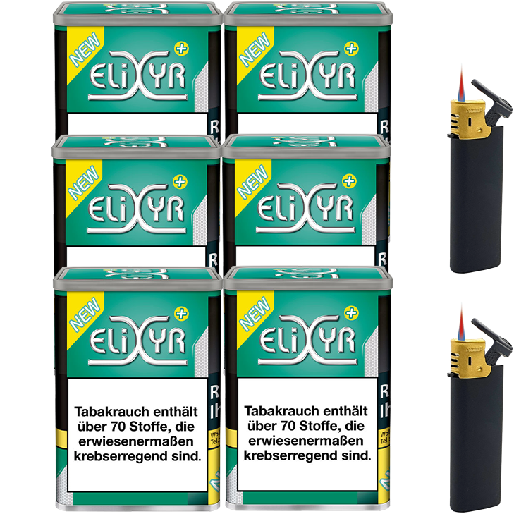 Elixyr Plus 6 x 115g mit Feuerzeugen