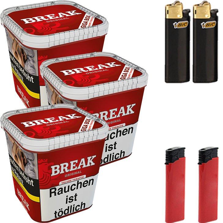 Break Original 3 x 230g mit Feuerzeugen