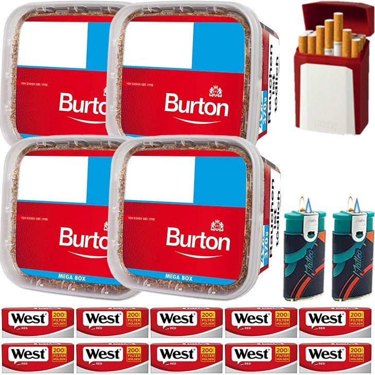 Burton 4 x 350g mit 2000 King Size Hülsen