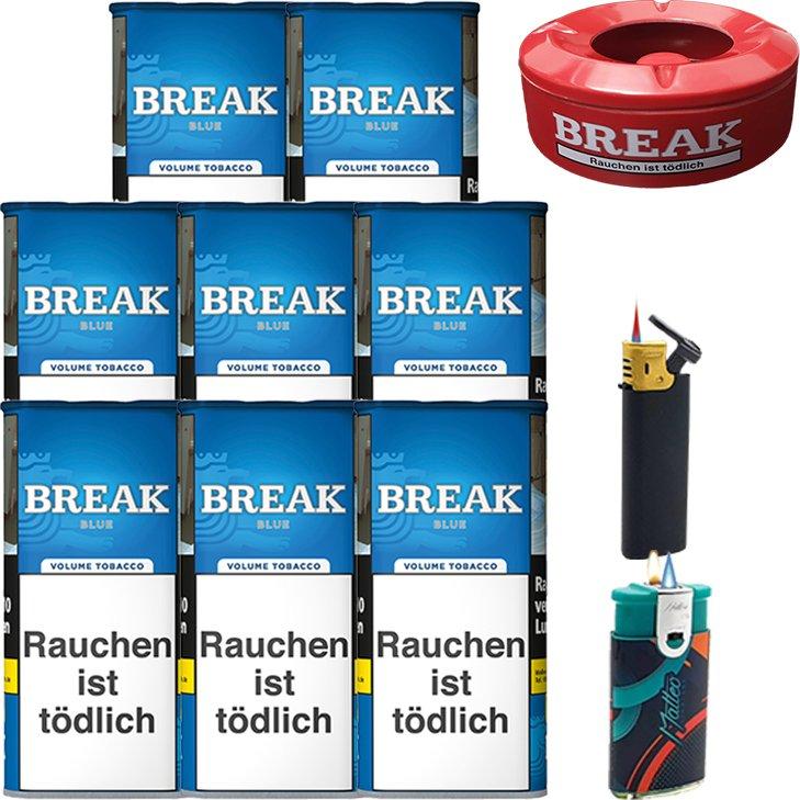 Break Blue / Blau 8 x 115g mit Aschenbecher
