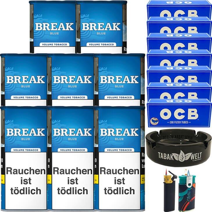 Break Blue / Blau 8 x 115g mit 1400 OCB Hülsen