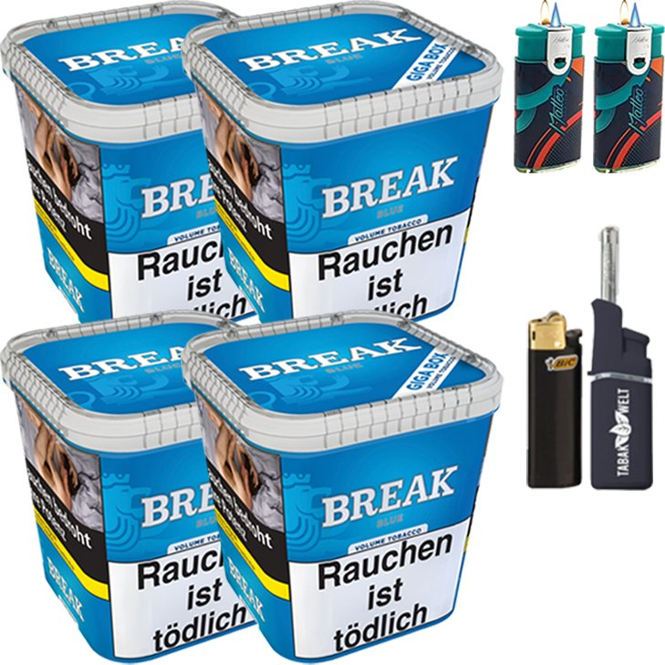 Break Blue 4 x 230g mit Feuerzeugen