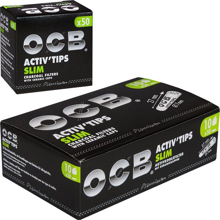 OCB Activ'Tips Slim 7 mm 10 x 50 Stück