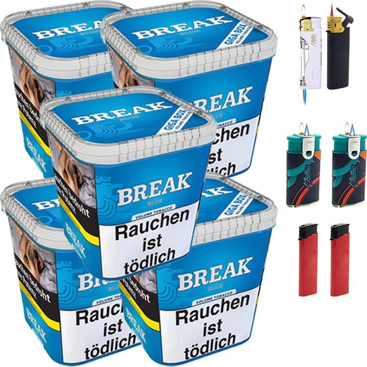 Break Blue 5 x 230g mit Feuerzeugen