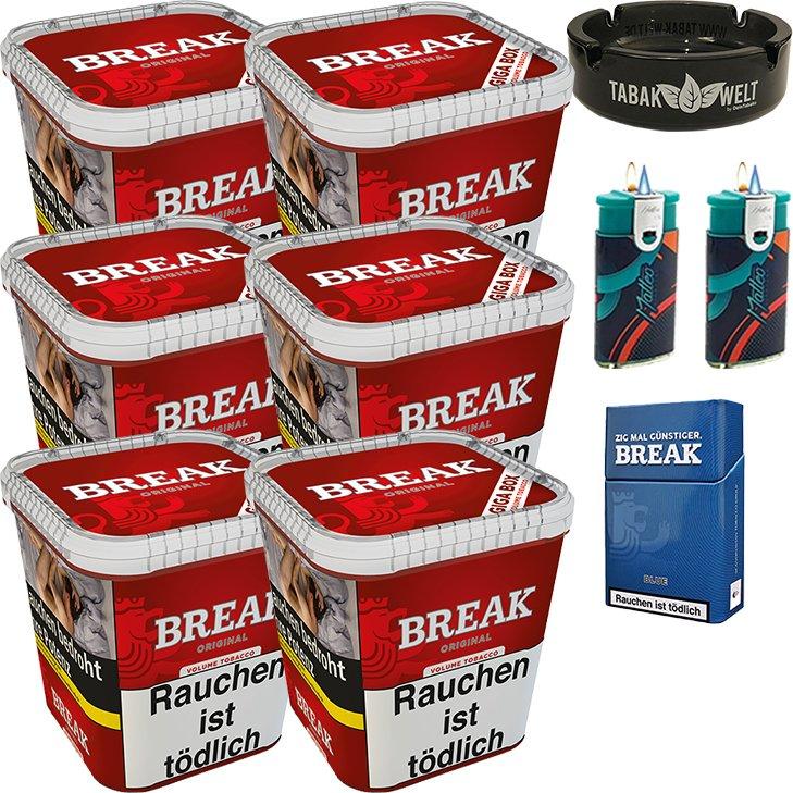 Break Original 6 x 230g mit Glasaschenbecher