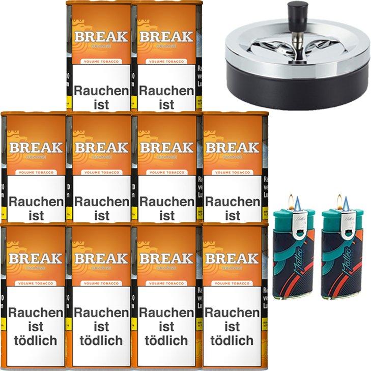 Break Orange 10 x 110g mit Aschenbecher