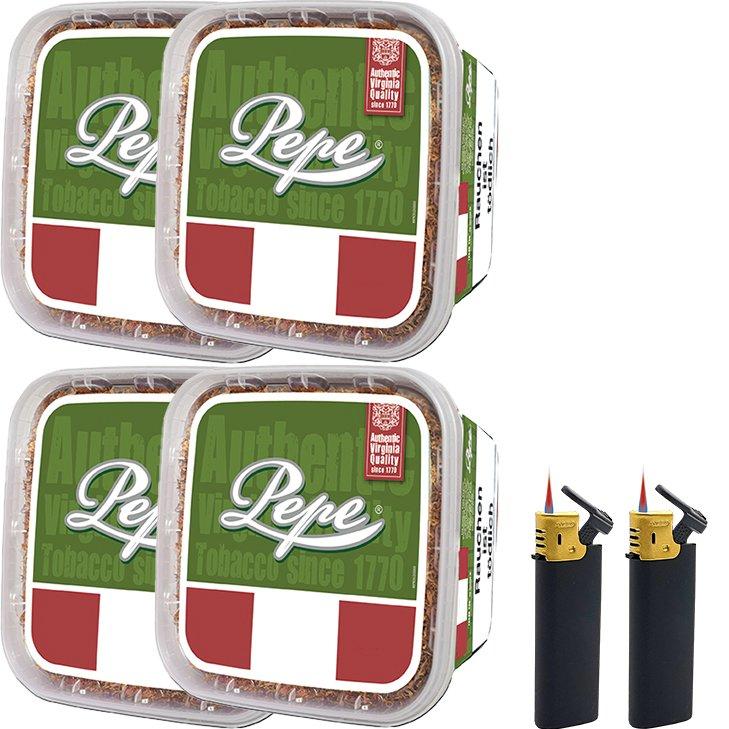 Pepe Rich Green 4 x 170g mit Sturmfeuerzeugen