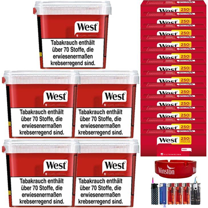West Red 5 x 280g mit 3000 Extra Size Hülsen