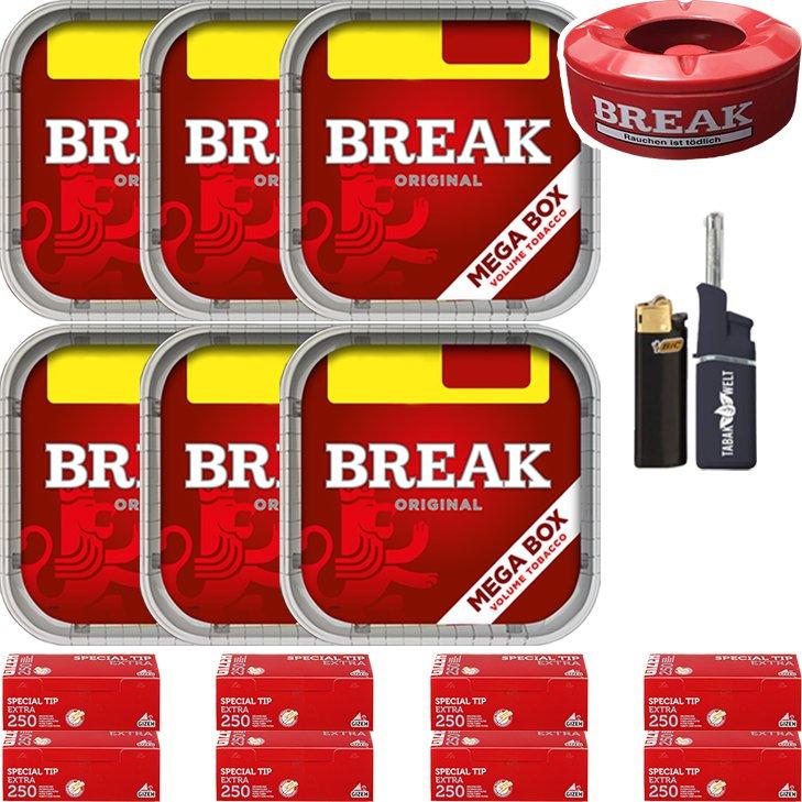 Break Original 6 x 170g mit 2000 Extra Hülsen