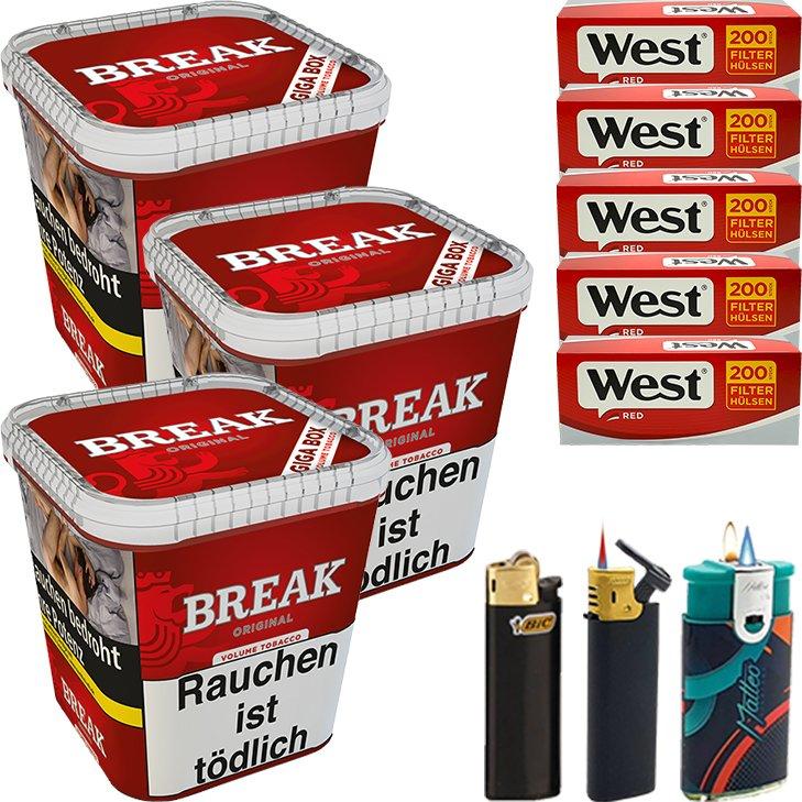 Break Original 3 x 230g mit 1000 Hülsen