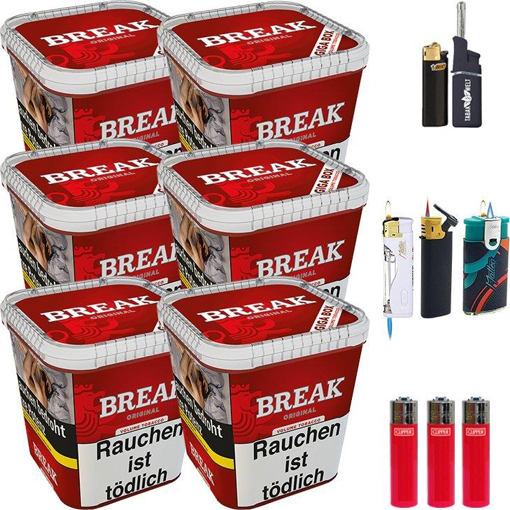 Break Original 6 x 230g mit Clipper Feuerzeugen