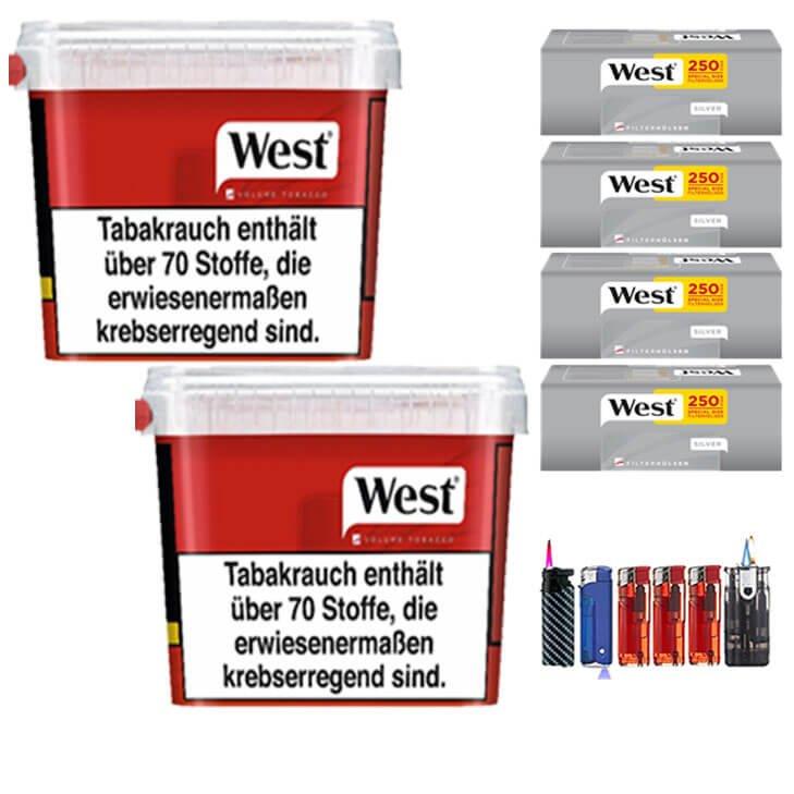 West Red 2 x 280g mit 1000 Silver Extra Size Hülsen