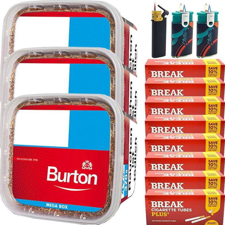 Burton 3 x 350g mit 1600 Plus Hülsen
