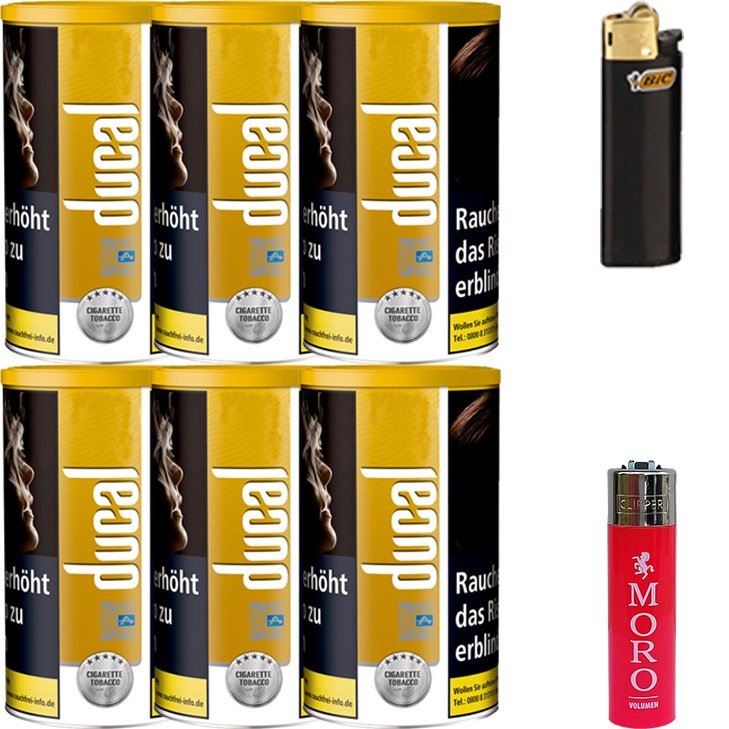 Ducal Gold 6 x 200g mit Feuerzeugen