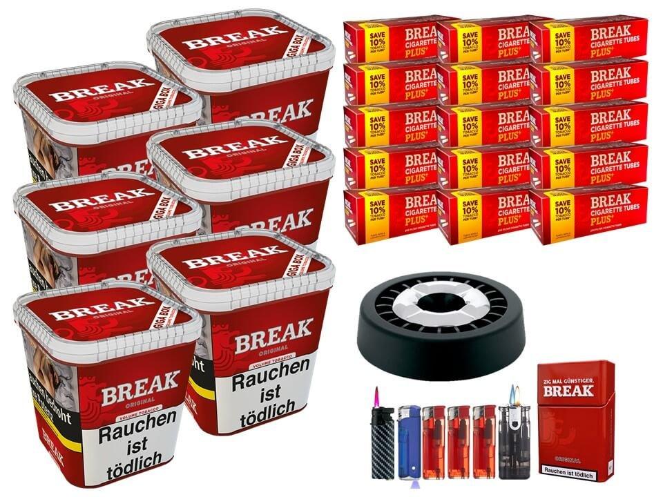 Break Original 6 x 230g Volumentabak 3000 Break Xtra Plus Filterhülsen Uvm.
