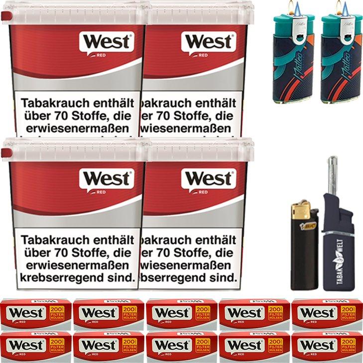 West Red 4 x 260g mit 2000 King Size Hülsen
